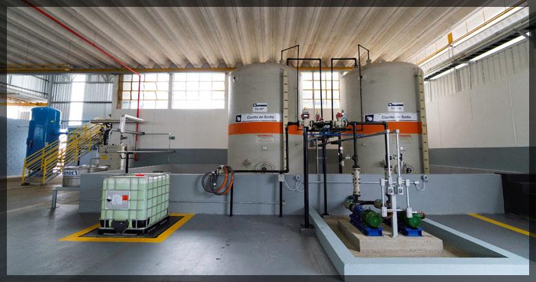 Produção de Clorito de Sódio na unidade de Santa Bárbara D´Oeste
